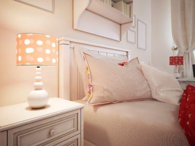 Sypialnia nastolatki w stylu glamour
