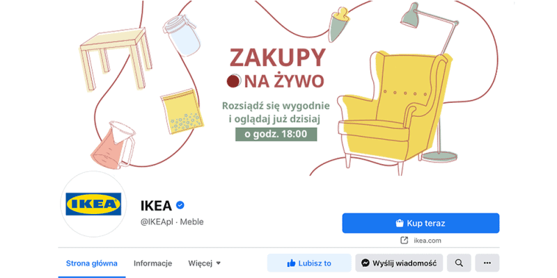 IKEA rusza z transmisjami online na Facebooku - Zakupy Na Żywo